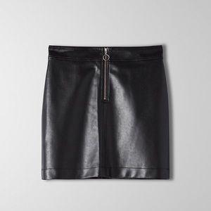 Vegan leather skirt